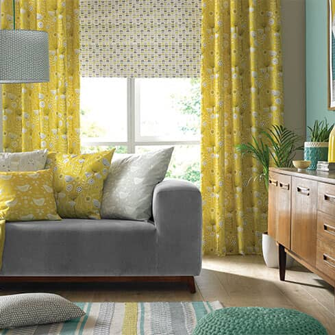 Using Mid Century Curtain Fabric For A Scandi Look