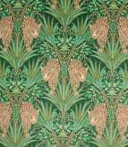 Jungle Jaguar Fabric / Spruce