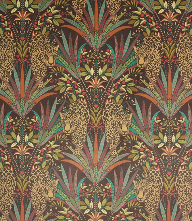 Jungle Jaguar Fabric / Carnelian