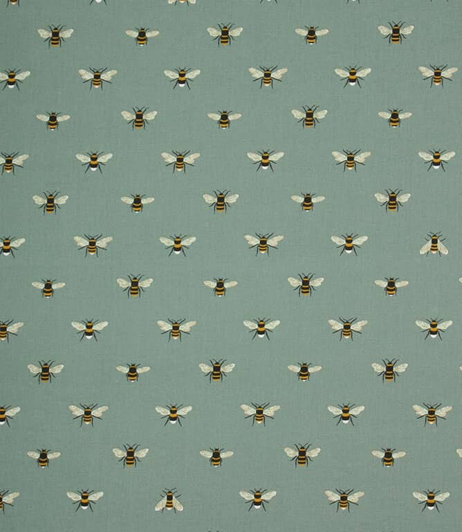 Sophie Allport Bees Fabric / Teal