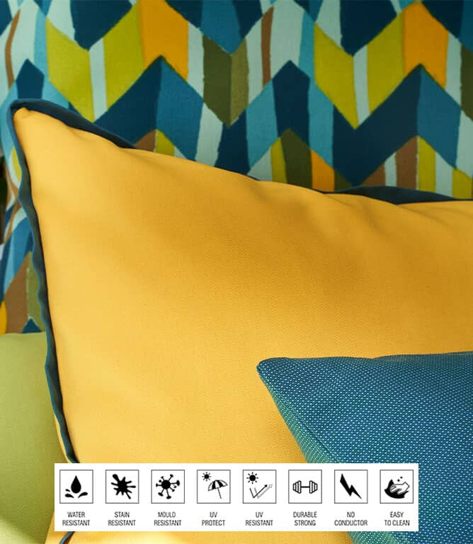 Penzance Outdoor Fabric / Roso
