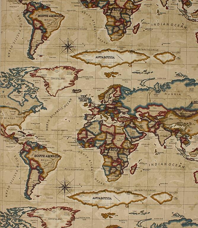 Atlas Fabric / Antique Gold
