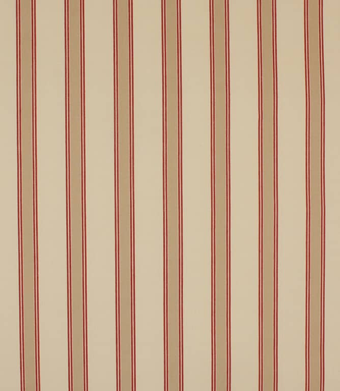 Red Oxford Stripe Fabric