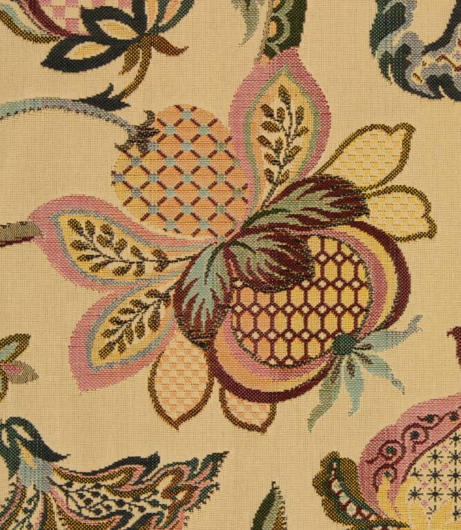 Ibiza Tapestry Fabric / Cranberry