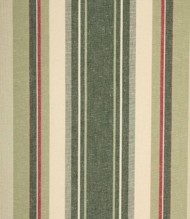 Falmouth Stripe Fabric / Vert