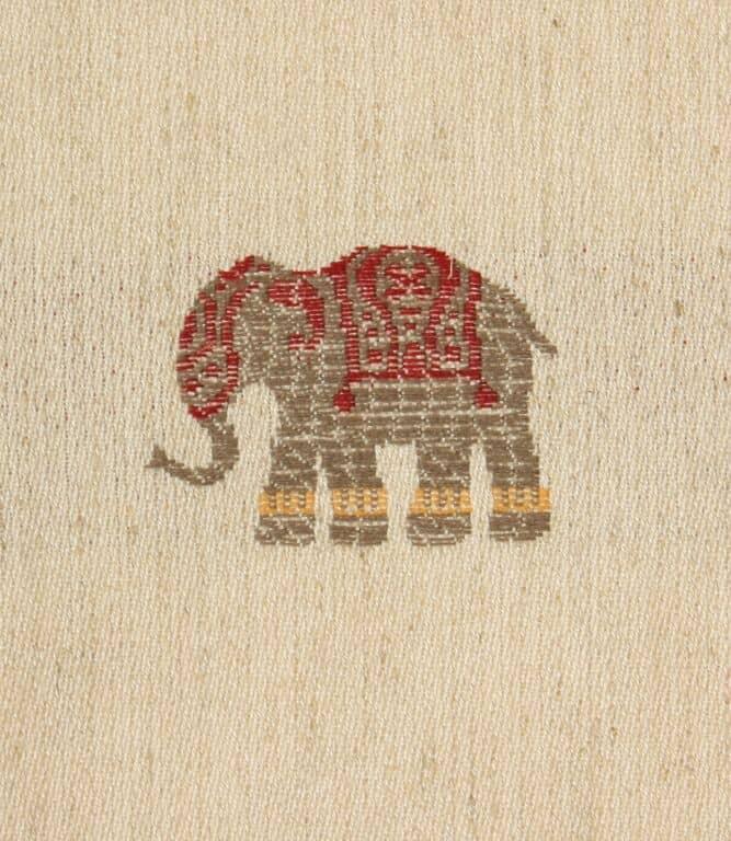 Elephants C Fabric / Red