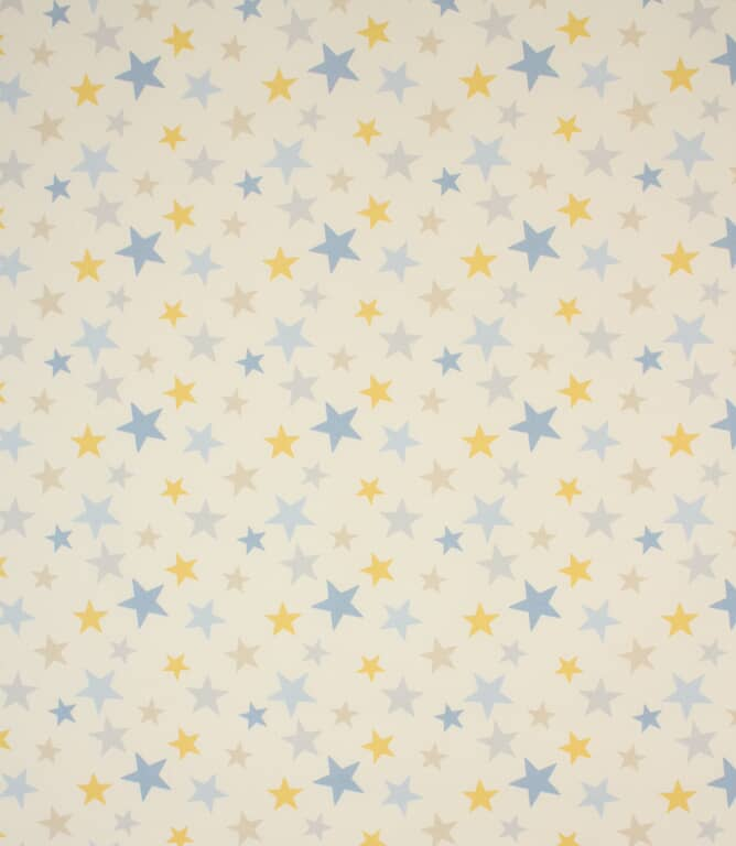 Lemon Funky Stars Fabric