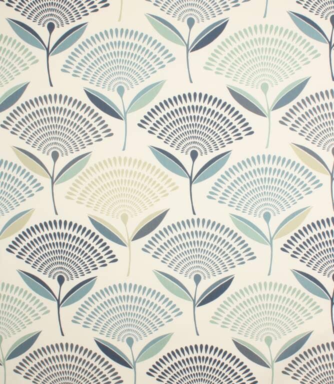 Colonial Blue Dandelion Fabric