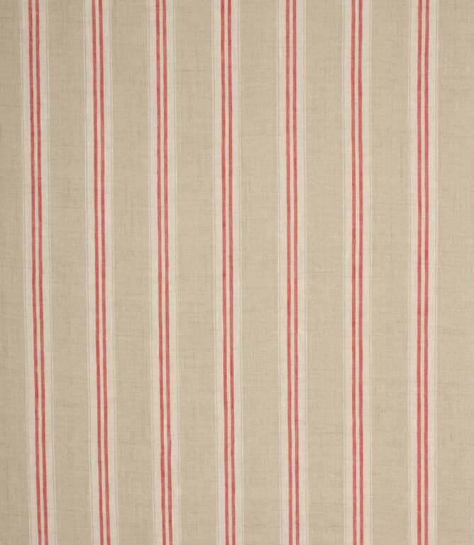 Red Cotswold Stripe Fabric