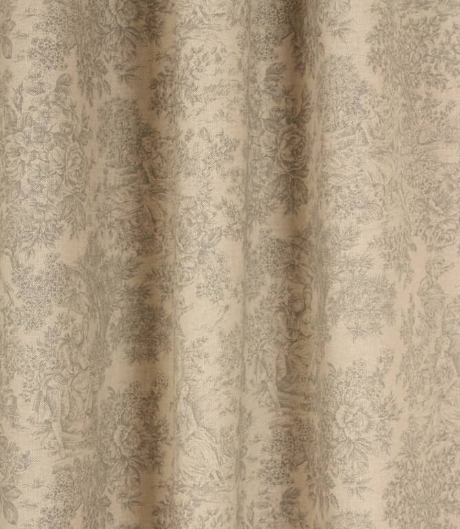 Zen Toile Fabric / Grey