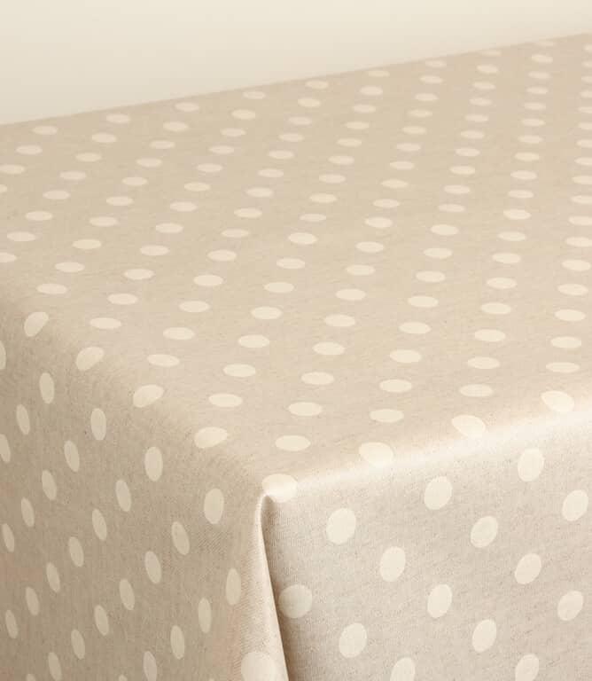Polka PVC Fabric / Natural