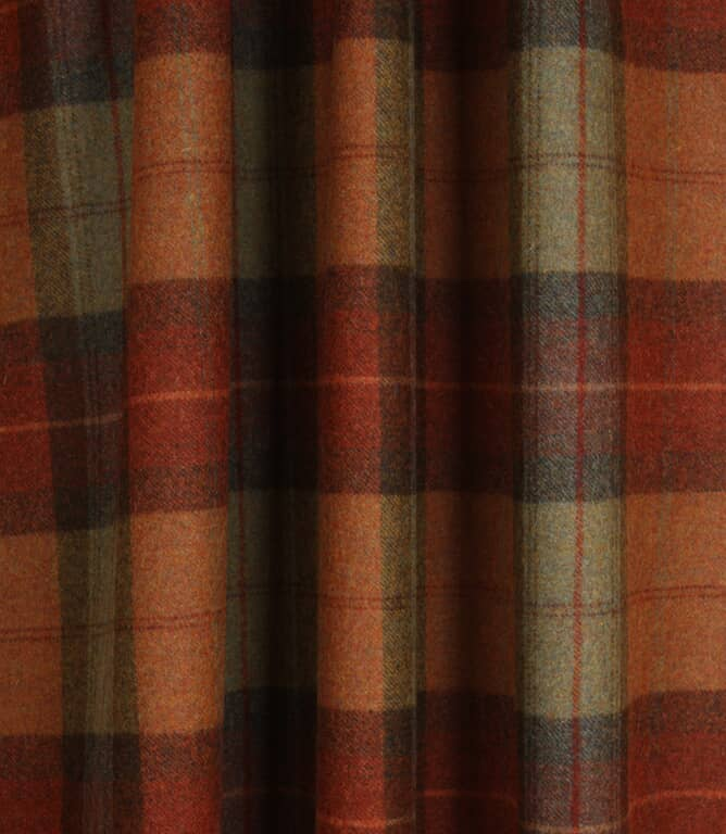 Skye Wool Fabric / Burnt Orange