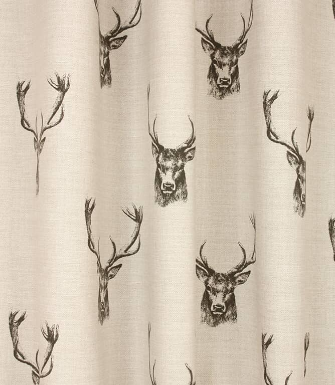 Stags Fabric / Charcoal