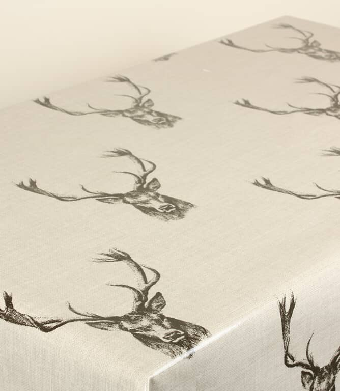 Stags PVC Fabric / Charcoal