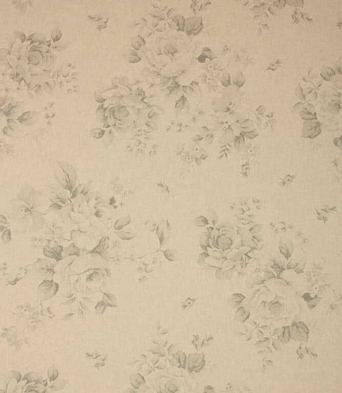 Grey Grande Floral Fabric