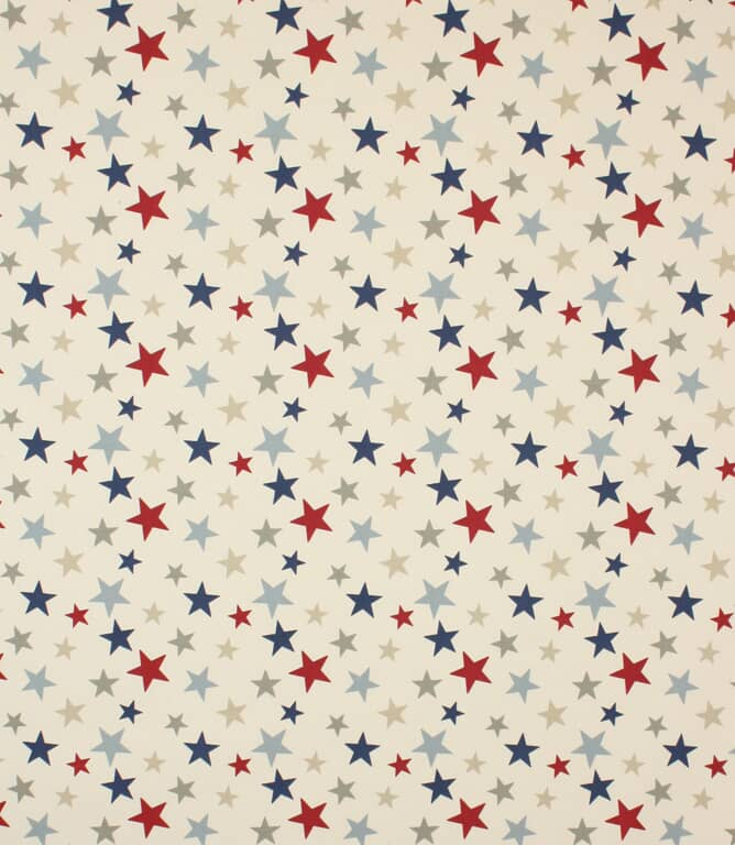 Blue Funky Stars Fabric