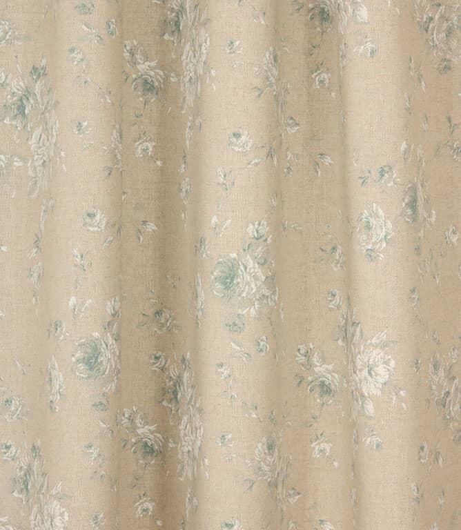 Vintage Floral Fabric / Blue