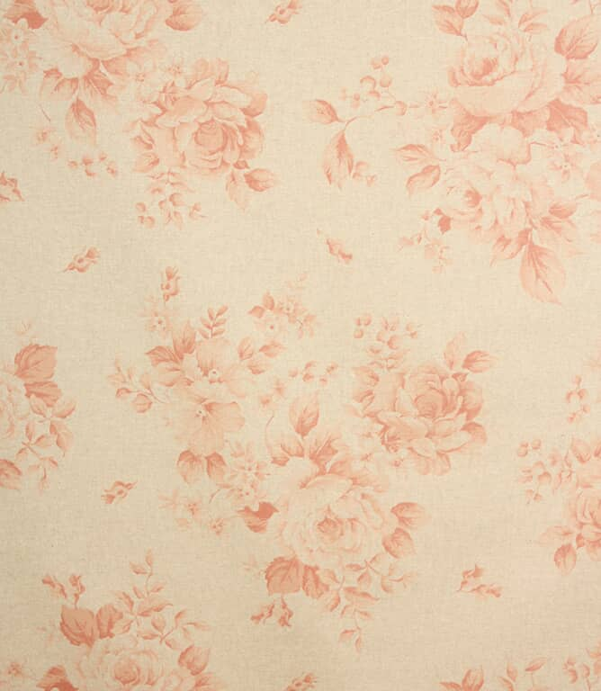 Grande Floral PVC Fabric / Red
