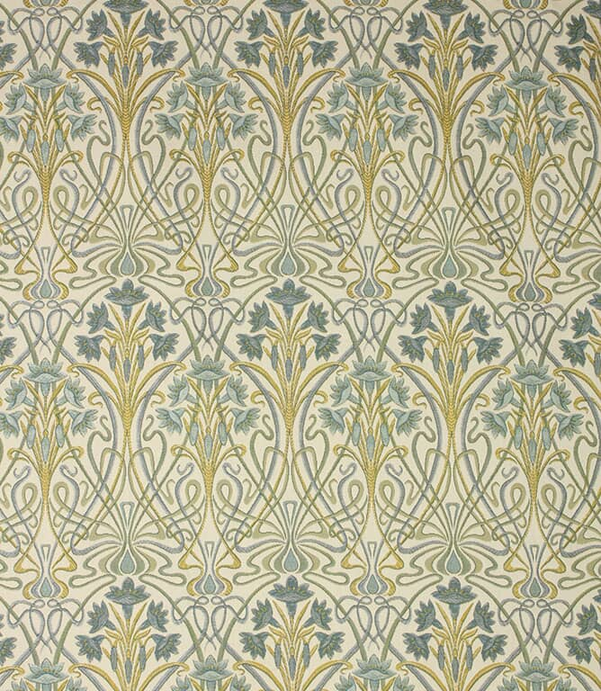 Prussian Tiffany Fabric
