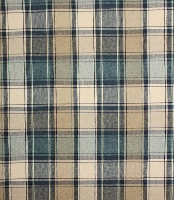 Indigo Argyle Fabric