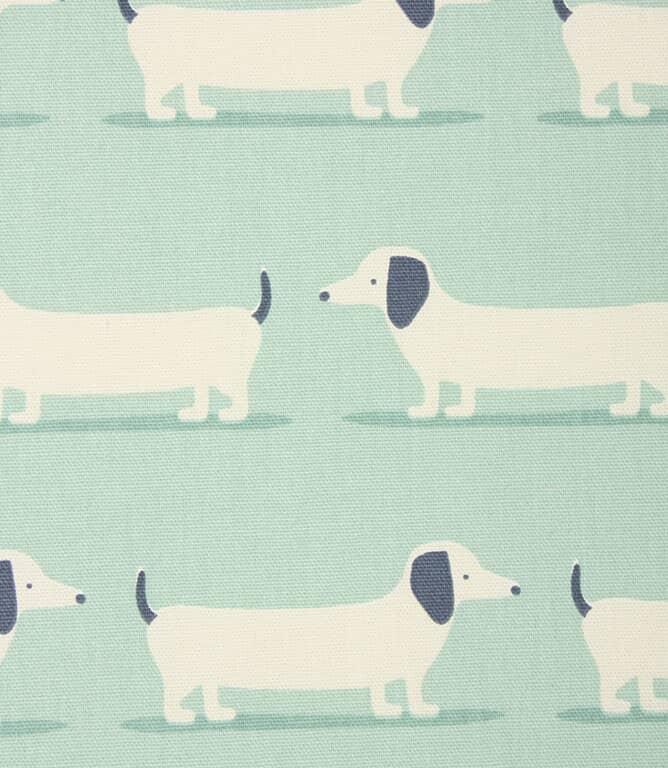 Hound Dog Fabric / Duck Egg