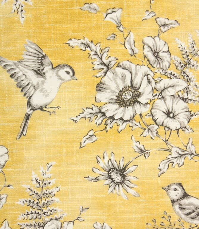 Finch Toile Fabric / Buttercup