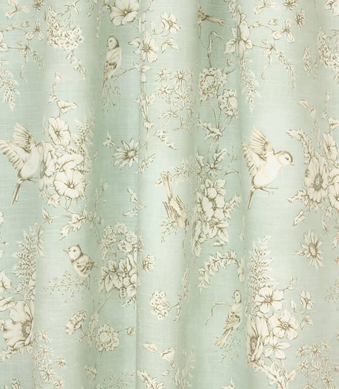 Finch Toile Fabric / Eau de nil