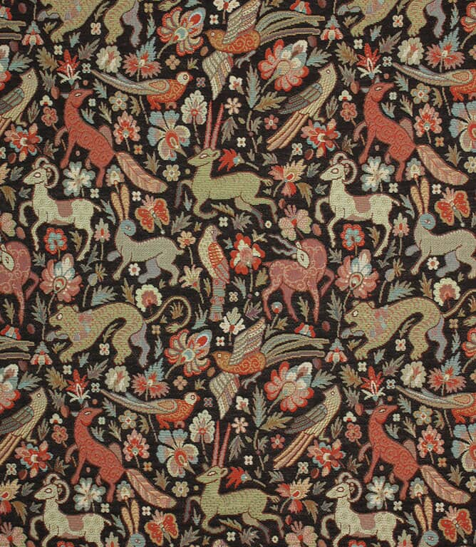 Black JF Tapestry Fabric