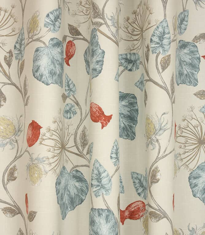 Parchment Fabric / Wedgewood