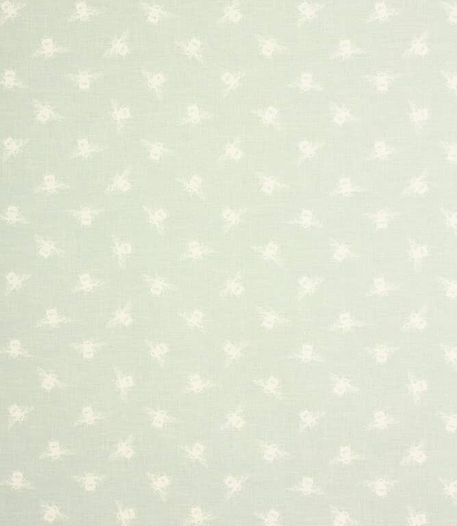 Bees F Fabric / Duck Egg