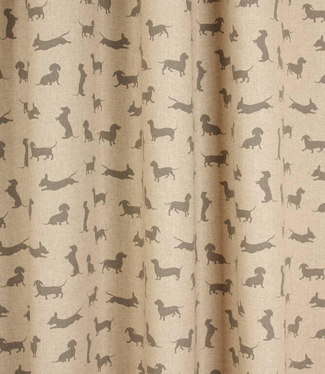 Sausage Dog Fabric / Grey