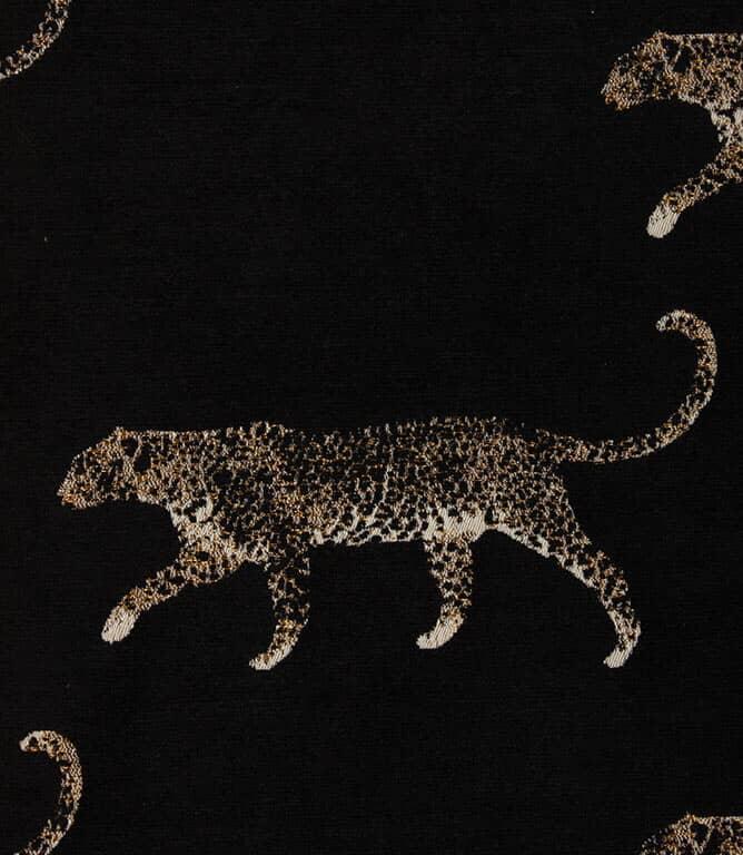 Leopard Fabric / Noir