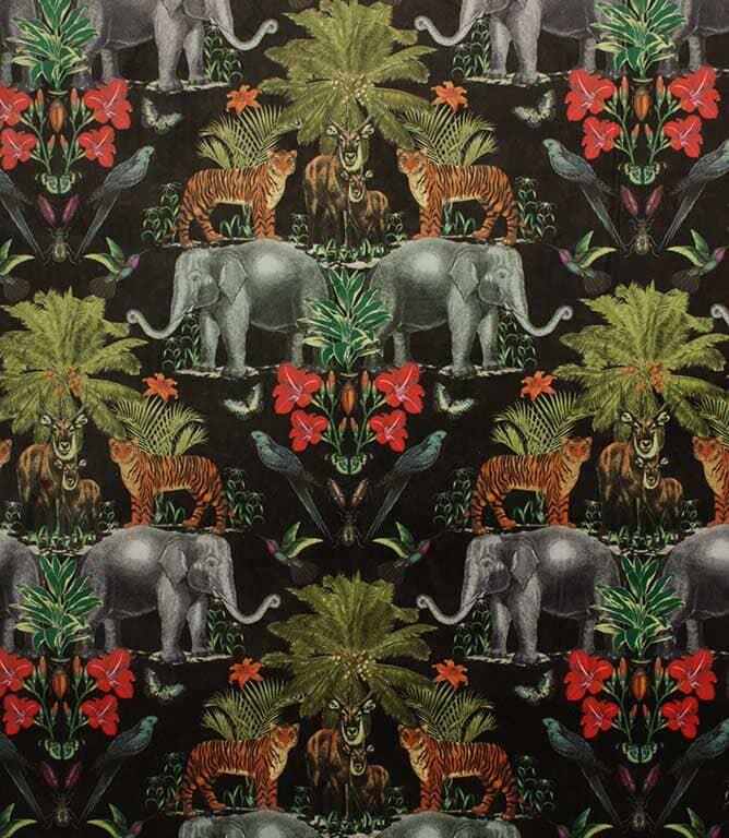 Wild India Fabric / Onyx