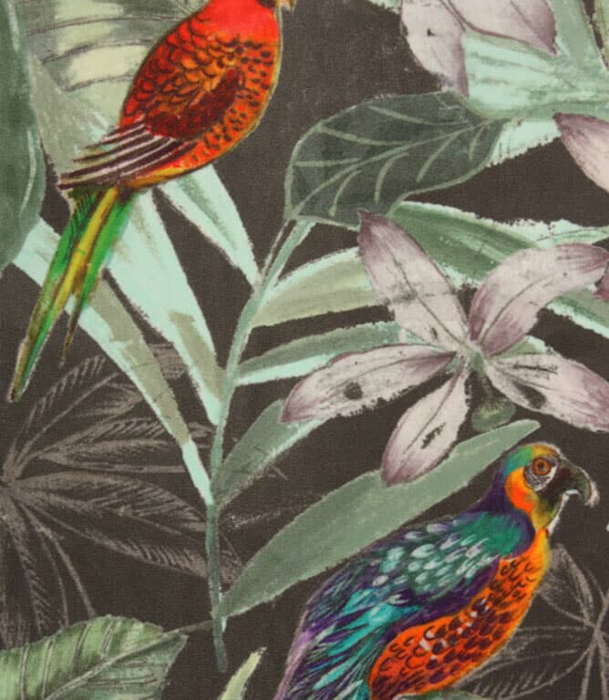 Bird Sanctuary Fabric / Grey