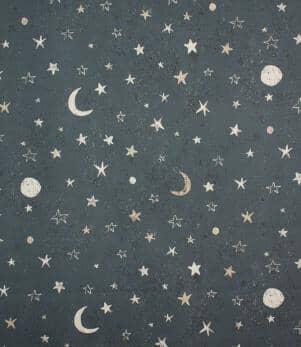 Moon Stars Fabric
