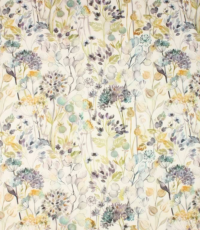 Violet cream Country Hedgerow Fabric