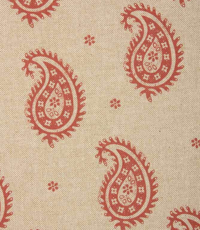JF Paisley Fabric / Red