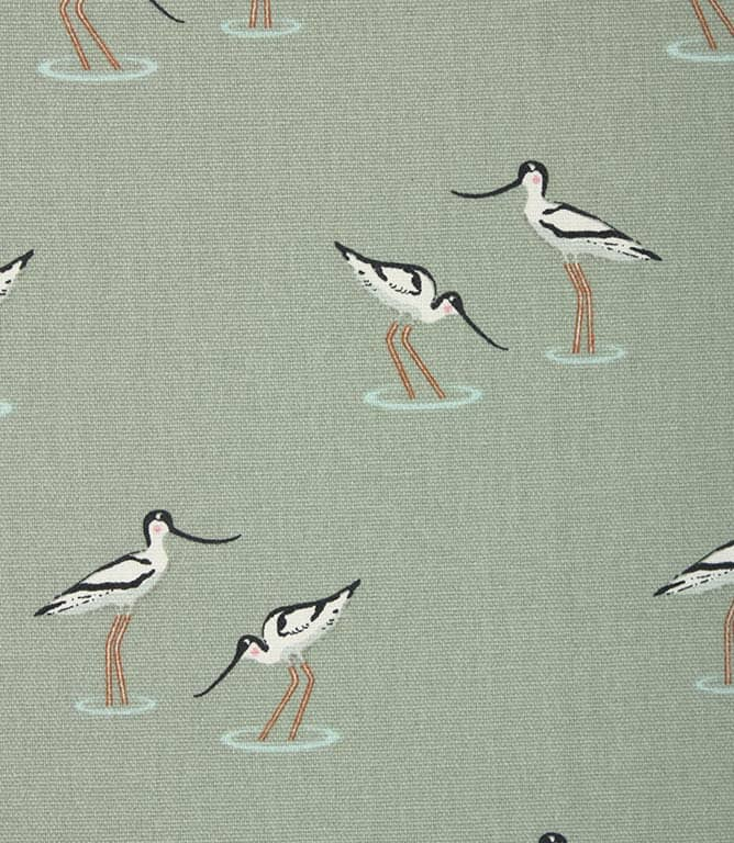 Sophie Allport Coastal Birds Fabric / Duck Egg