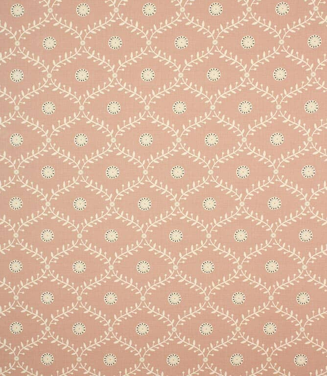 Blush Daisy Trellis Fabric