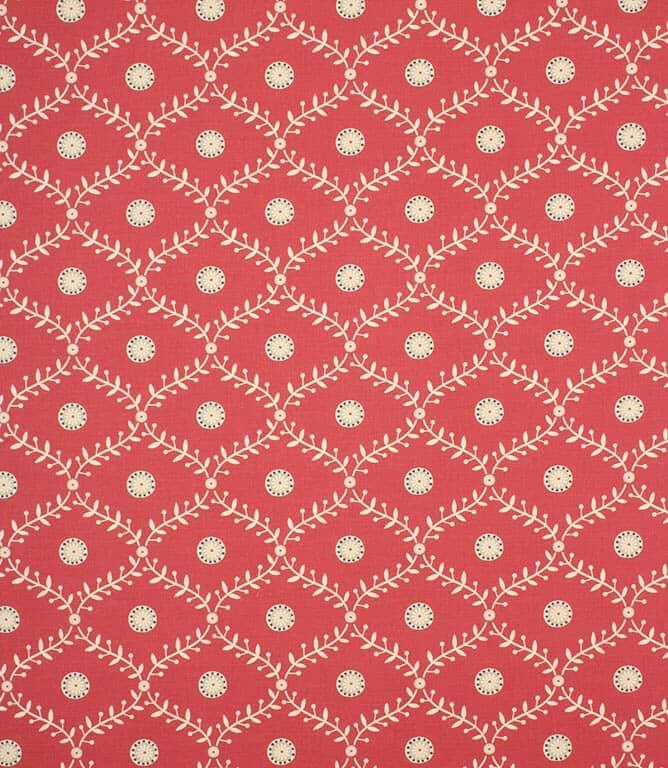 Raspberry Daisy Trellis Fabric