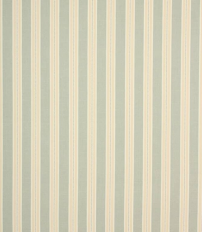 Duck Egg Daisy Stripe Fabric