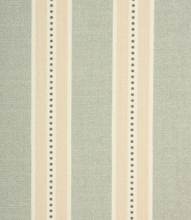 Daisy Stripe Fabric / Duck Egg