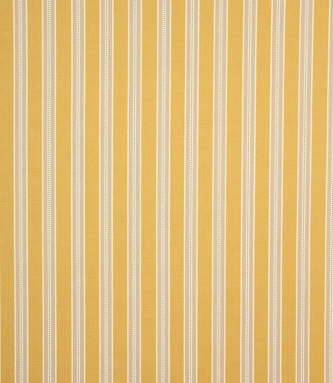 Ochre Daisy Stripe Fabric