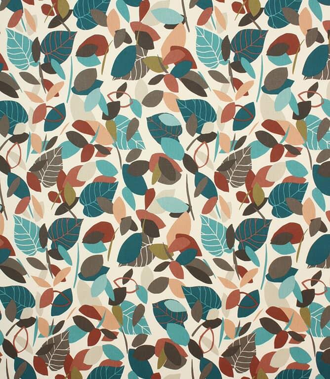 Teal Botaniska Fabric
