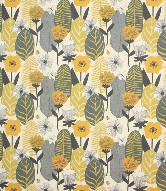 Saffron Blooma Fabric
