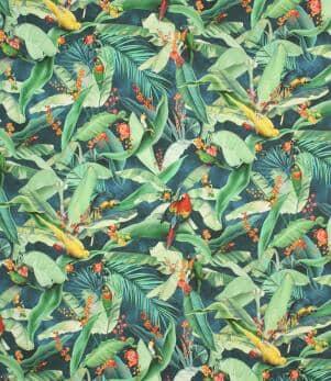 Tropical Parrots  Fabric