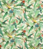 Tropical Parrots  / Ivory Fabric