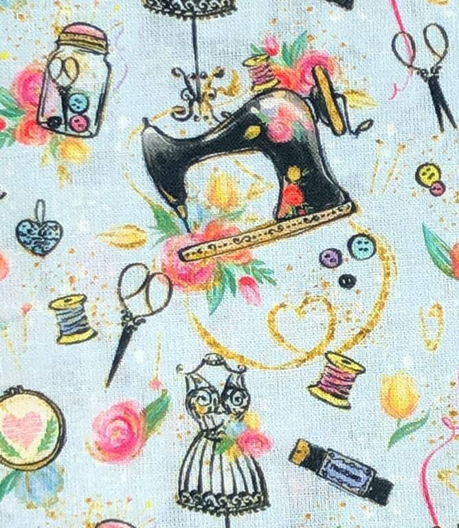 Sewing Fabric / Aqua