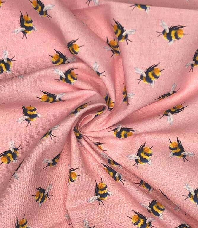 Bumblebee Fabric / Candy Pink