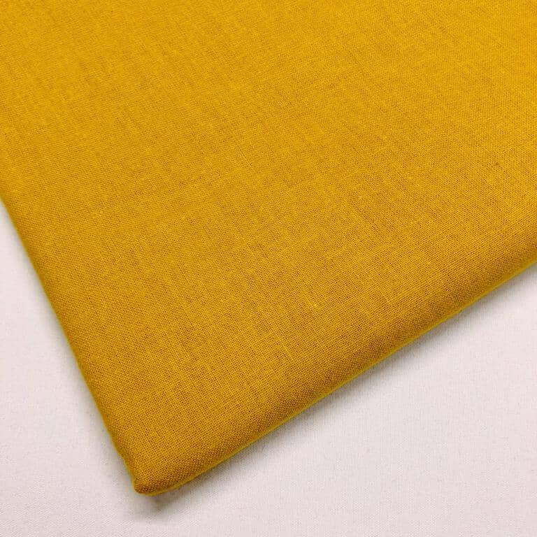 Craft Plain Fabric / Mustard Gold